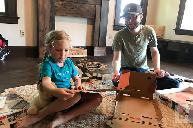 nintendo labo robot kit product experience review cardboard flat