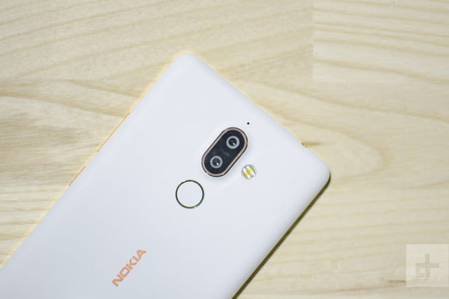 Nokia 7 Plus Hands-On | Back of the the phone showing off the camera and logo