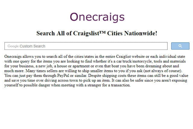 how to search all of craigslist at once onecraigs01