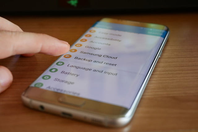 how to reset a galaxy s7 edge settings backup reset2