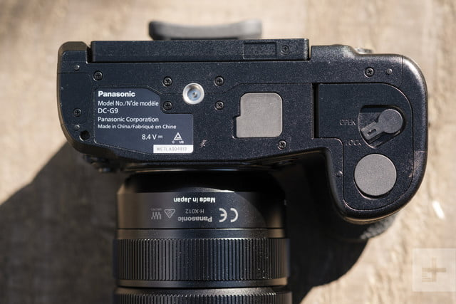 Panasonic Lumix G9 Review | Detail shot of the bottom of the camera