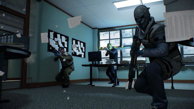 payday 2 screenshot office monitor room