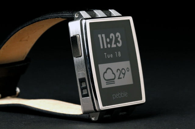 Pebble Steel Watch front angle