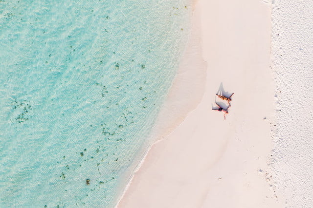 best drone photos people on the beach