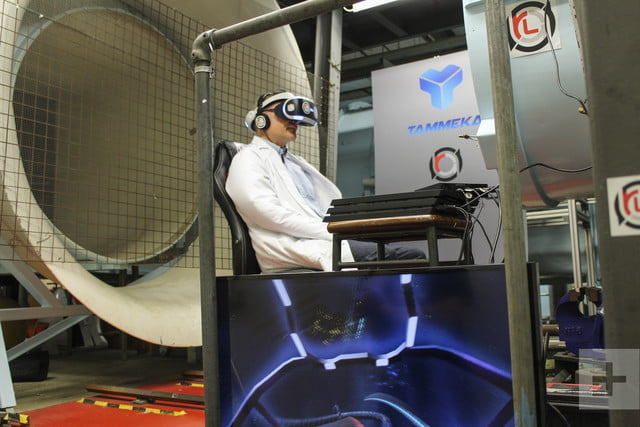 playing vr racer radial g in wind tunnel 14776