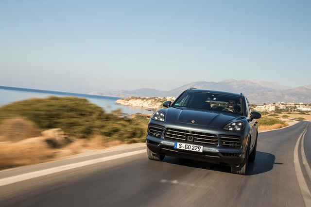 porsche cayenne s review front angle offset