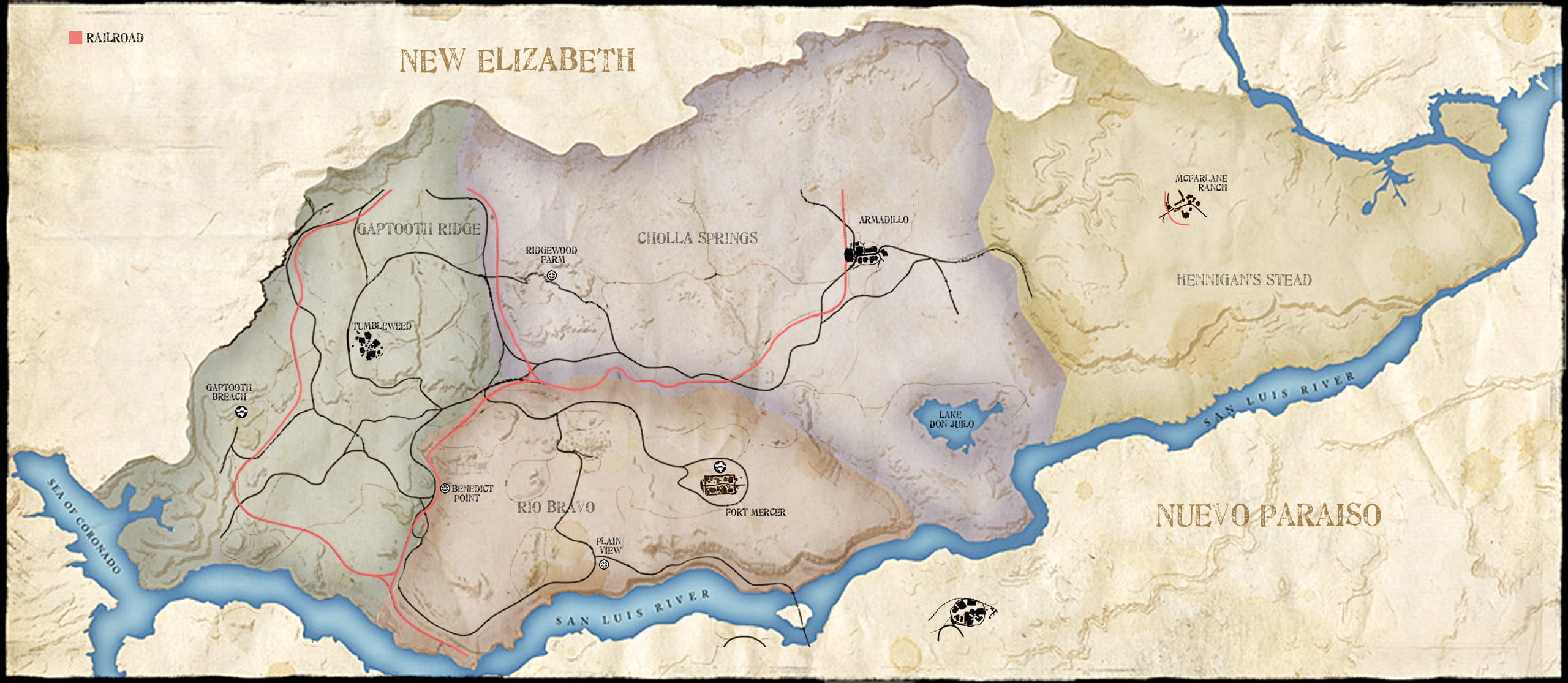 red dead redemption still holds up over eight years later map