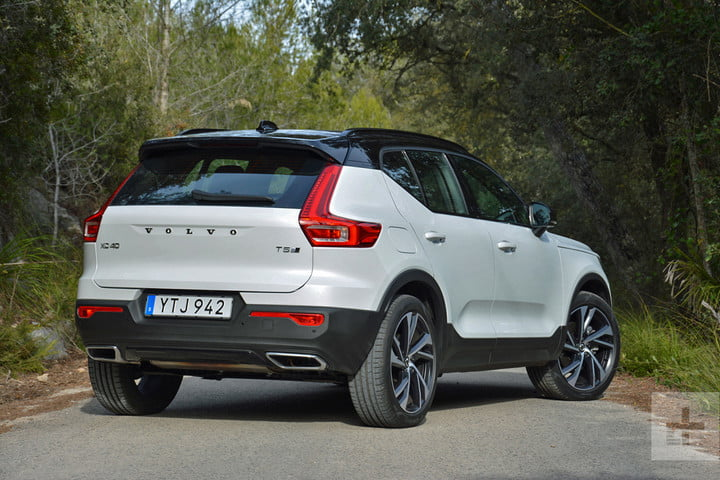 2019 Volvo XC40 first drive review back angle