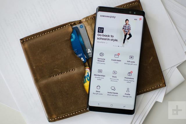 Samsung Galaxy Note 8 review samsung pay