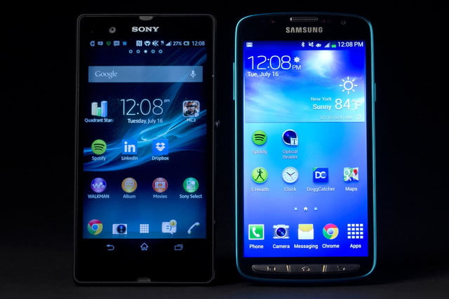 Samsung Galaxy S4 Active review sony xperia Z comparison