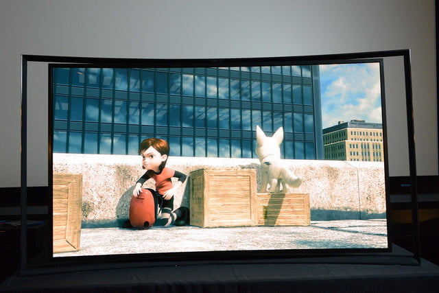 Samsung KN55S9C OLED TV front