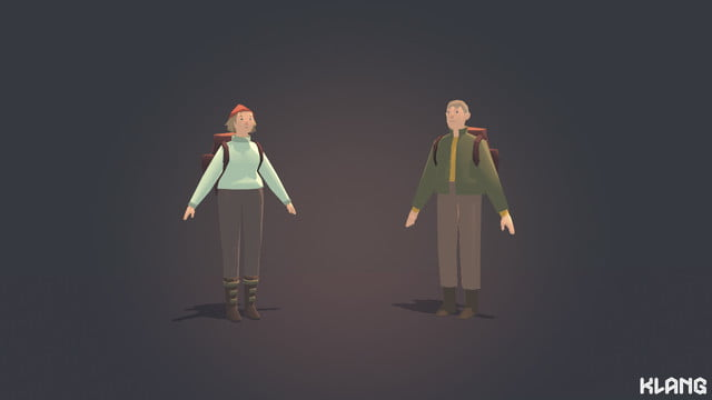 Seed Concept Art featuring male and female character examples
