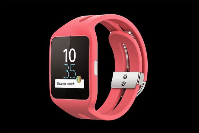 Sony Smartwatch 3 front angle pink