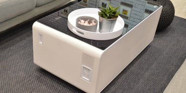 Sobro Coffee Table.Sobro Coffee Table Has A Refrigerated Drawer And Other High Tech