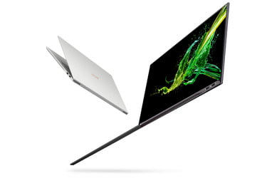 Acer Swift 7 Dazzles With Nearly Borderless Touch Display: CES 2019