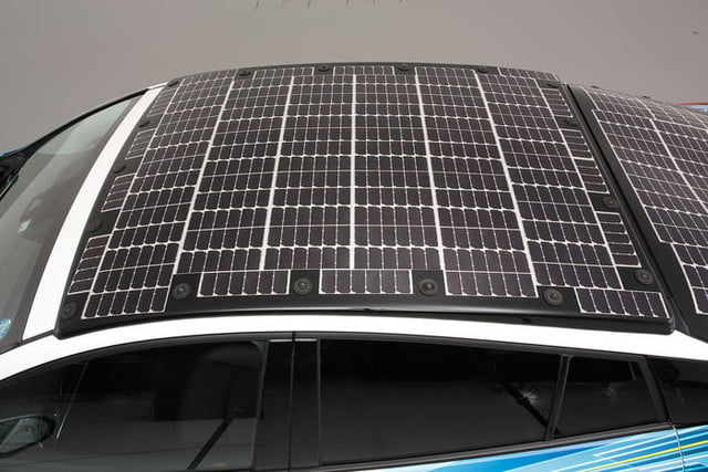 toyota has covered a prius in solar cells to add 27 miles its range 8