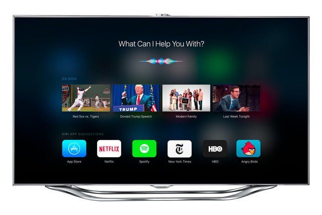 apple tv ios 9 concept siriproactive samsung es8000 front