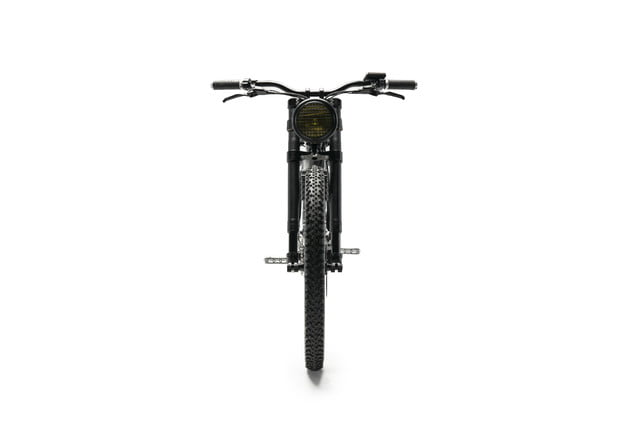 vintage electric scrambler s ebike black full front
