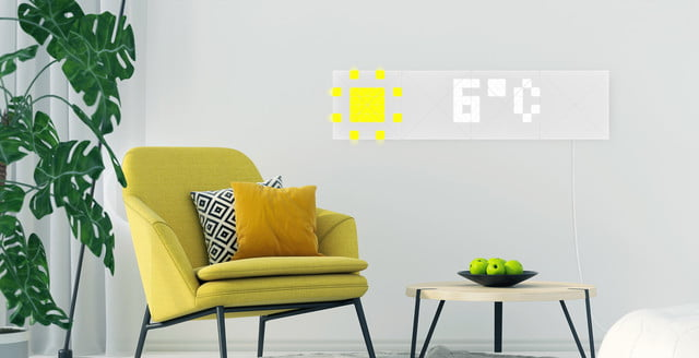 lametric sky lights ces 2019 weather in living room 2