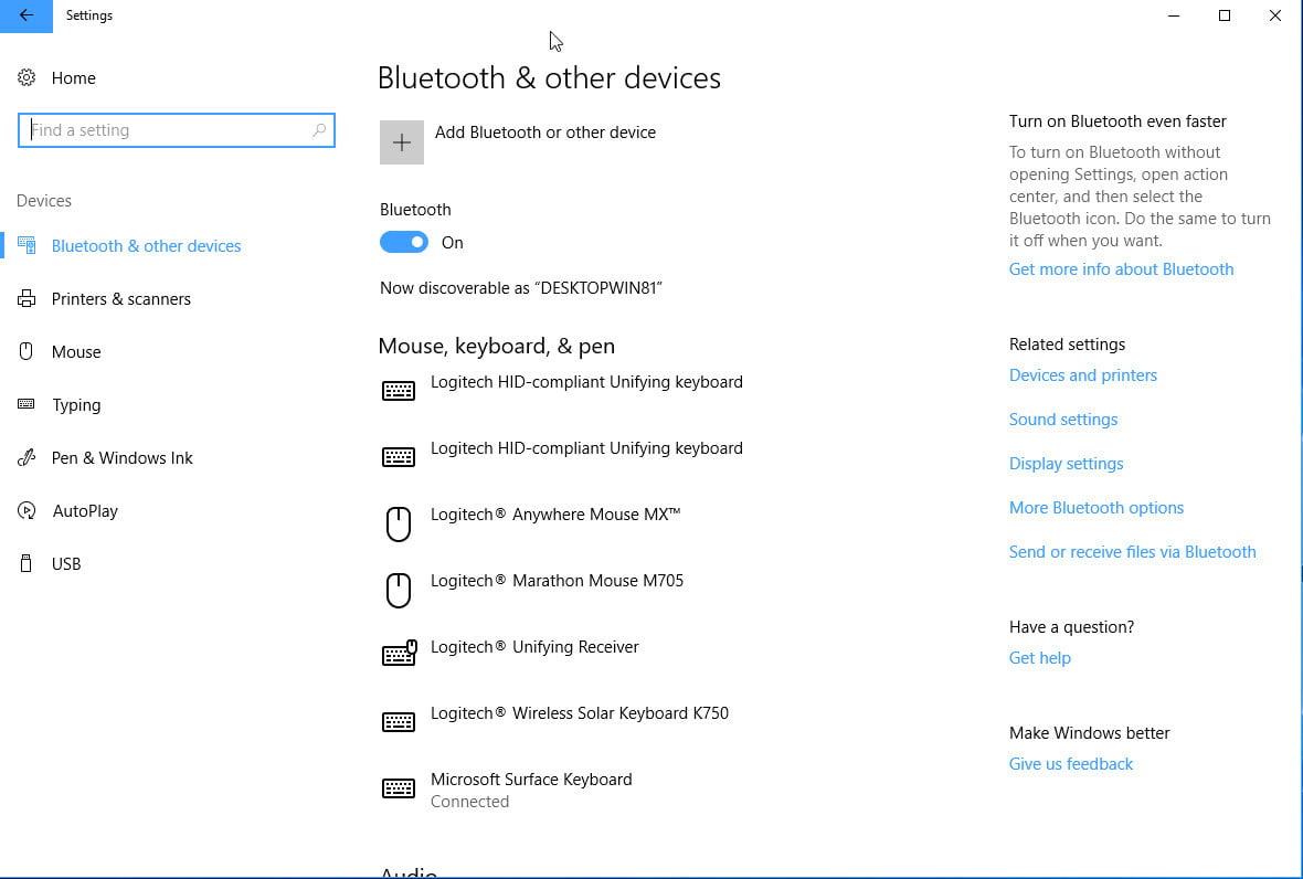 How to turn on bluetooth in windows digital trends how to turn on bluetooth in windows 10 settings ccuart Gallery