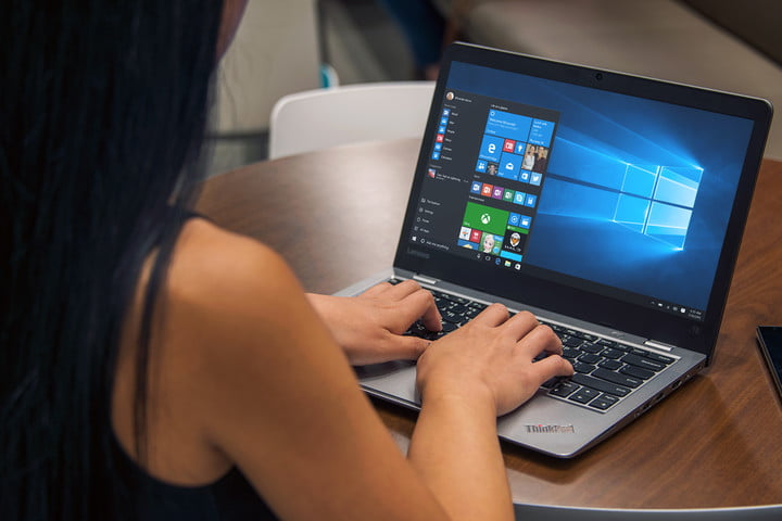windows laptop with ms office